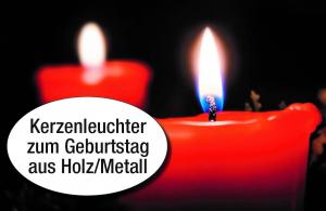 Kerzenleuchter aus Holz und Metall